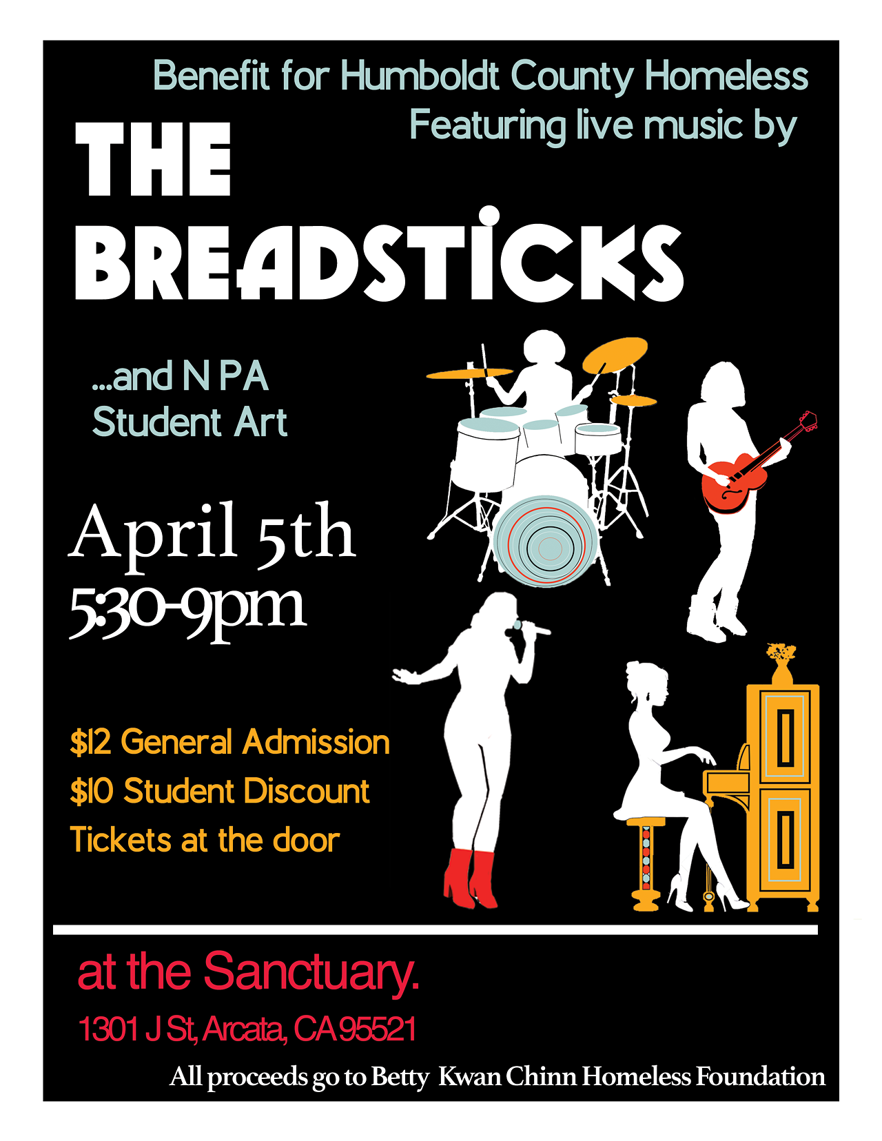 A Benefit for Humboldt County Homeless Featuring the Breadsticks